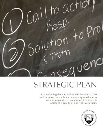 Full Strategic Plan - Milton Academy