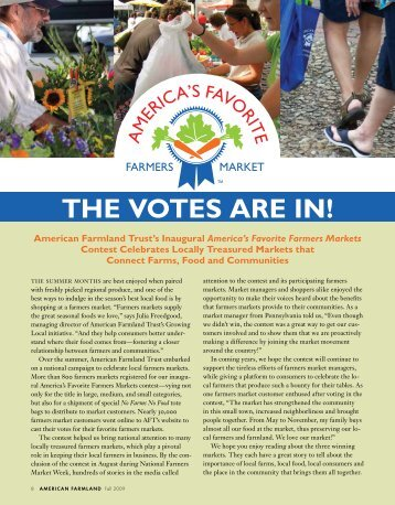 The Votes Are In [PDF] - American Farmland Trust