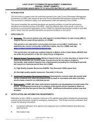 SMC's General Permit #2 - Lake County Illinois