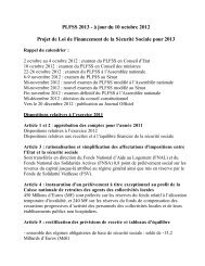 PLFSS 2013 - à jour du 10 octobre 2012 Projet de Loi de ... - APIMA
