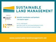 Sustainable Land Management - Nachhaltiges Landmanagement