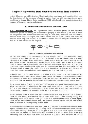 Chapter 4 Algorithmic State Machines and Finite State Machines