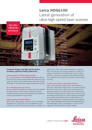 Leica HDS6100 Latest generation of ultra-high speed laser scanner
