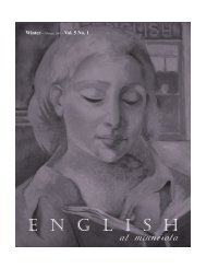 Volume 5, Number 1 Spring 2002 - Department of English