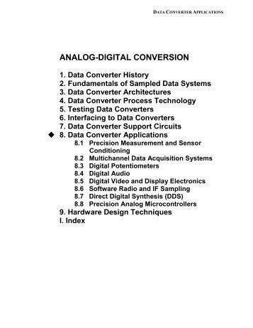Chapter 8: Data Converter Applications