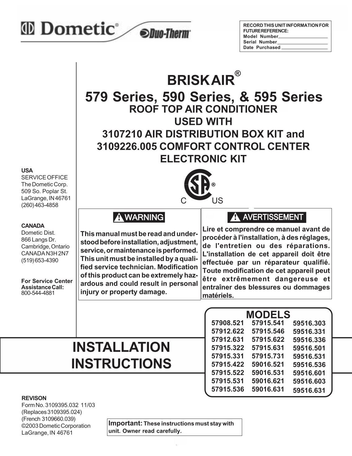 Dometic Thermostat Wiring Diagram 3106995032 - Wiring Diagram