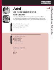 Ariel Regional Regulatory Coverage – Middle-East ... - 3E Company