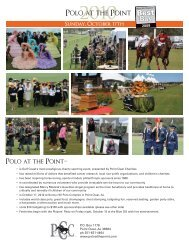 Sunday, October 17th - Polo at the Point