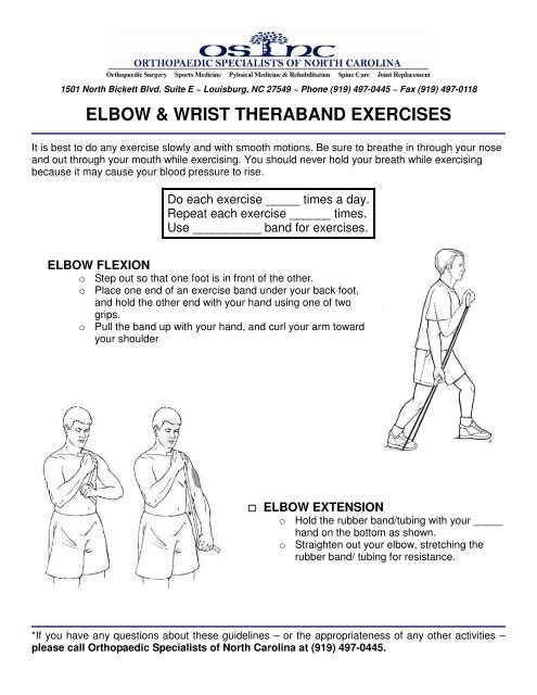 elbow & wrist theraband exercises - Orthopaedic Specialists of North