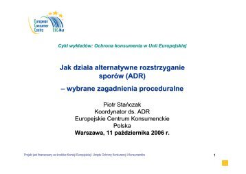 ADR - Centrum Informacji Europejskiej