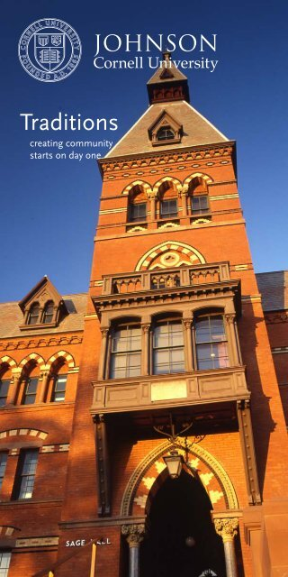 Traditions Brochure - Johnson Graduate School of Management ...