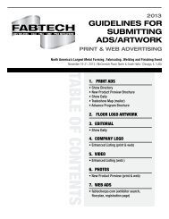 GUIDELINES FOR SUBMITTING ADS/ARTWORK - Fabtech