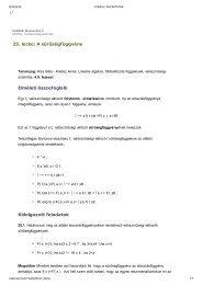 25. lecke: A sűrűségfüggvény Elméleti összefoglaló Kidolgozott ...