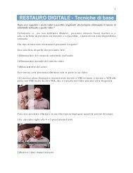 RESTAURO DIGITALE - Tecniche di base - BaroneRosso.it
