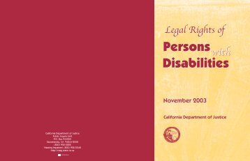 Legal Rights of Persons With Disabilities - Ossh.com