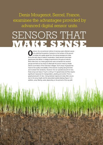 Sensors that make sense - Sercel
