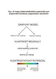 Využití mapy elektrostatického potenciálu při výuce