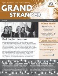 September 2013 - Myrtle Beach Area Chamber of Commerce