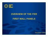 the following presentation - Iter Industry
