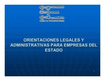 orientaciones legales y administrativas para empresas del estado