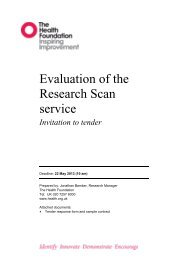 Evaluation of the Research Scan service - Health Foundation