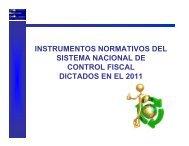 Instrumentos Normativos del Sistema Nacional de Control Fiscal