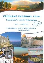 Frühling in Israel   Bischof - KulTOUR Ferienreisen