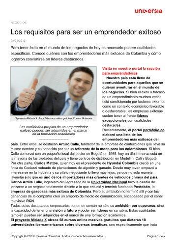 Los requisitos para ser un emprendedor exitoso - Noticias - Universia