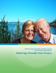 Global Age-Friendly Cities Project - District of Saanich