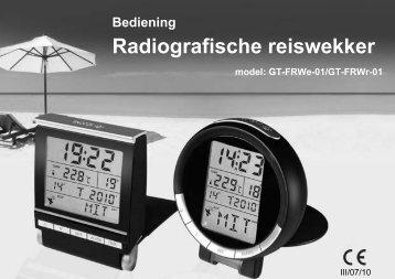 Radiografische reiswekker - Teknihall.be
