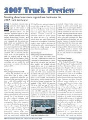 2007 Truck Preview - Government Engineering Journal