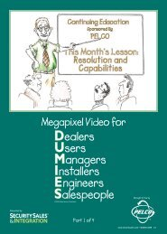 Megapixel Video for - Security Sales & Integration Magazine