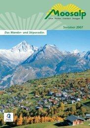 Moosalp-Region - Bürchen Tourismus