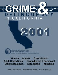 Crime and Delinquency in California, 2001 - Ossh.com