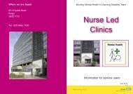 Nurse Led Clinic service user leaflet