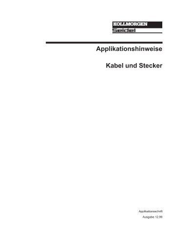 Applikationshinweise Kabel und Stecker - BIBUS SK, sro