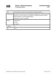 6B Thema: Luftverschmutzung Lehrerkommentar Flugzeug-Abgase ...