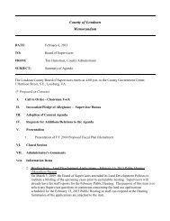 County of Loudoun Memorandum - Loudoun County