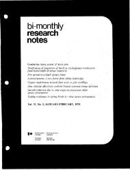 Bi-Monthly Research Notes: Vol 31, No 1-6 - NFIS