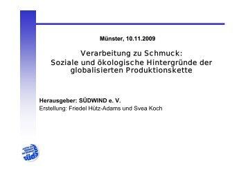 Verarbeitung zu Schmuck: Soziale und ... - Faire Edelsteine