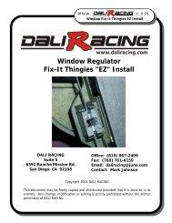 Window Regulator Fix-It Thingies