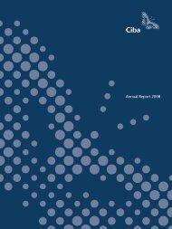 Ciba Annual Report 2008 - Alle jaarverslagen