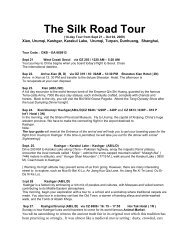 The Silk Road Tour - Eastern Travel