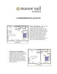 View Condominium Descriptions and Floor Plans - Manor Vail Lodge