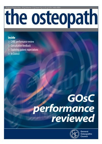 GOsC performance reviewed - General Osteopathic Council