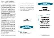 Colloque Nutrition santé Toulouse 01 12 12 brochure - Association ...