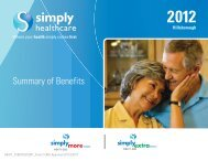 Summary of Benefits 2012 - Simply Healthcare Plans