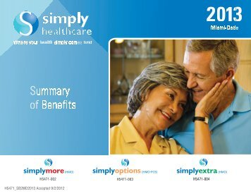 Summary of Benefits English - Simply Healthcare Plans