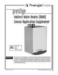 Prestige IDWH Sensor Supplement - Triangle Tube