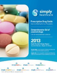South Florida Region and Tampa Region Formulary - Simply ...